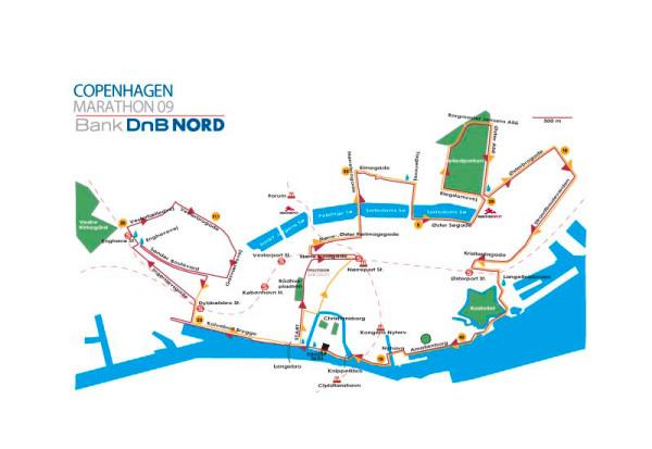 Kopenhaageni maratoni rajakaart